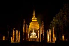 Il tempio antico alla notte Fotografie Stock