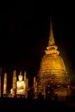 Il tempio antico alla notte Fotografie Stock Libere da Diritti