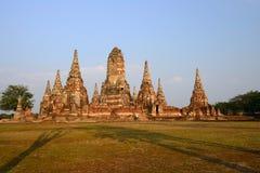 Tempio antico in Tailandia, Wat Chaiwatthanaram Fotografia Stock