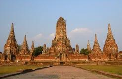 Tempio antico in Tailandia, Wat Chaiwatthanaram Immagine Stock