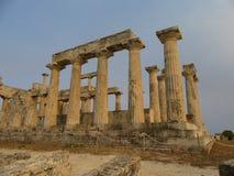 Il tempio Aphaia sull'isola Aegina Immagine Stock