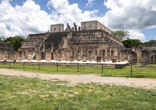 Il tempio dei guerrieri, Chichen Itza Fotografia Stock