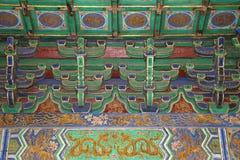 Il tempio del cielo (altare di cielo)-- Dentro il Corridoio della preghiera per i buoni raccolti, Pechino Immagini Stock Libere da Diritti