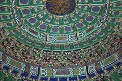 Il tempio del cielo (altare di cielo)-- Dentro il Corridoio della preghiera per i buoni raccolti, Pechino Immagini Stock