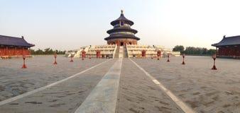 Il tempio del cielo nel panorama di Pechino Fotografia Stock