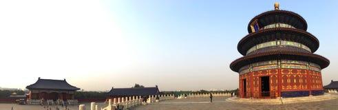 Il tempio del cielo nel panorama di Pechino Fotografia Stock Libera da Diritti