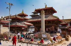 Il tempio del piccione a Kathmandu immagine stock libera da diritti