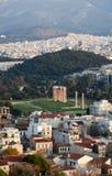 Il tempio dell'olimpionico Zeus a Atene, Grecia Fotografia Stock Libera da Diritti