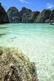 Il tempio della spiaggia della Tailandia oscilla Krabi Fotografia Stock