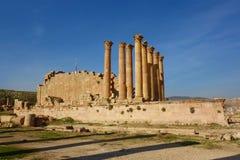 Il tempio di Artemide nella città romana antica di Gerasa, Jerash, Giordania, Medio Oriente immagini stock