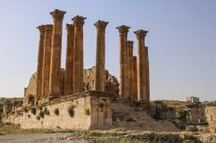 Il tempio di Artemide nella città romana antica di Gerasa, Jerash moderno, Giordania fotografia stock libera da diritti