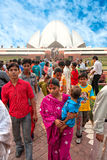 il tempio di Baha'i, Nuova Delhi, India Fotografia Stock