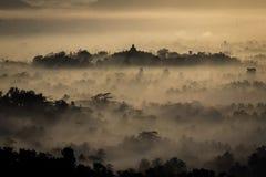 Vista del tempio di Borobudur di Stumbu Fotografie Stock Libere da Diritti