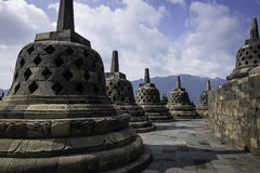 Borobudur Stupas Fotografia Stock Libera da Diritti