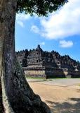 Il tempio di Borobudur è una destinazione turistica in Asia - in Indonesia fotografia stock