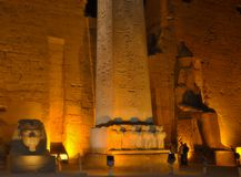 Il tempio di Luxor alla notte, Egitto Immagine Stock