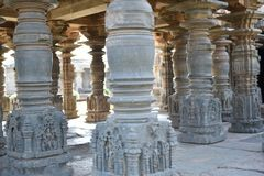Il tempio di Mahadeva, Chalukya occidentale, Itagi, Koppal, il Karnataka Fotografie Stock Libere da Diritti