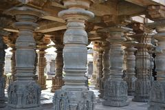 Il tempio di Mahadeva, Chalukya occidentale, Itagi, Koppal, il Karnataka Fotografie Stock