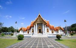 Il tempio di marmo famoso Benchamabophit da Bangkok, Tailandia Immagini Stock Libere da Diritti