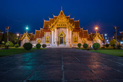 Il tempio di marmo, Wat Benchamabopitr Dusitvanaram Bangkok TAILANDIA Immagine Stock Libera da Diritti