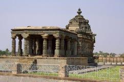 Il tempio di Nanesvara, Lakkundi, il Karnataka, India fotografia stock libera da diritti