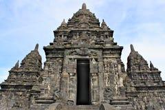 Il tempio di Sewu è il complesso secondo più esteso del tempio buddista in Java Immagini Stock Libere da Diritti