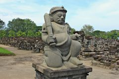 Il tempio di Sewu è il complesso secondo più esteso del tempio buddista in Java Fotografia Stock Libera da Diritti