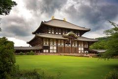 Il tempio di Todai-Ji di Nara Fotografie Stock Libere da Diritti