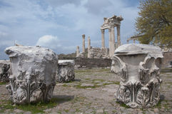 Il tempio di Traiano, acropoli di Pergamum (Pergamon), Bergama, Tu Fotografia Stock