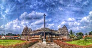 Il tempio di Veeranarayana Hoysala a Belavadi fotografia stock libera da diritti