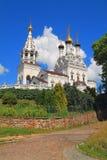 Il tempio di Vera, di Nadezhda, di Lyubov e della madre di loro Sofia in Bagrationovsk Fotografia Stock