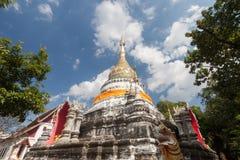 Il tempio di Wat Buppharam è bello tempio in Chiangmai, Thailan Fotografia Stock Libera da Diritti