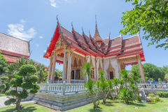 Il tempio di Wat Chalong Buddhist in Chalong, Phuket, Tailandia immagine stock
