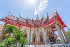 Il tempio di Wat Chalong Buddhist in Chalong, Phuket, Tailandia fotografia stock libera da diritti