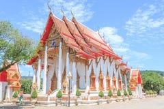 Il tempio di Wat Chalong Buddhist in Chalong, Phuket, Tailandia immagini stock libere da diritti