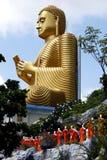 Il tempio dorato a Dambulla nello Sri Lanka Fotografia Stock Libera da Diritti