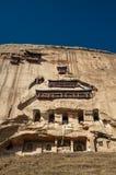 Il tempio e le grotte antichi (tempio di Mati) fotografia stock