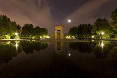 Il tempio egiziano di Debod a Madrid Immagini Stock