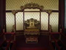 Il tempio famoso di Confucio a Pechino con il dettaglio della porta a fotografie stock