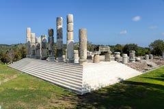 Il tempio ionico in Smintheion, un santuario di Apollo fotografie stock
