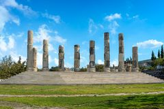 Il tempio ionico in Smintheion, un santuario di Apollo fotografia stock
