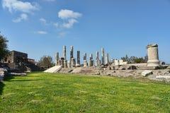 Il tempio ionico in Smintheion, un santuario di Apollo nel nord-ovest fotografia stock libera da diritti