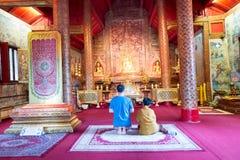 il tempio molto bello di Wat Phra Singh Fotografia Stock