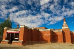 Il tempio nel Tibet Fotografia Stock Libera da Diritti