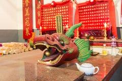 Il tempio nel villaggio di Shui Tau Tsuen, Hong Kong Immagine Stock Libera da Diritti