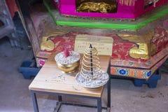 Il tempio nel villaggio di Shui Tau Tsuen, Hong Kong Fotografia Stock