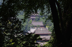 Il tempio nell'area scenica di Lingyin immagini stock libere da diritti