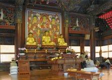 Il tempio Seoul di Bongeunsa Immagine Stock Libera da Diritti