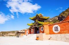 Il tempio sospeso del Mt. Hengshan. Fotografie Stock Libere da Diritti