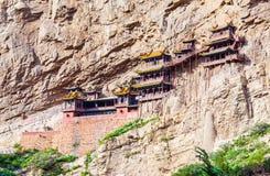 Il tempio sospeso del Mt. Hengshan. Immagine Stock Libera da Diritti